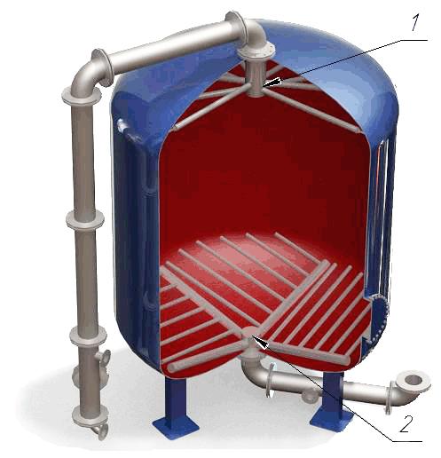 Дренажные системы (ДРУ) щелевого типа для фильтров ФИПа, ФОВ, ФСУ, колпачки щелевые в Челябинске. Фото 1