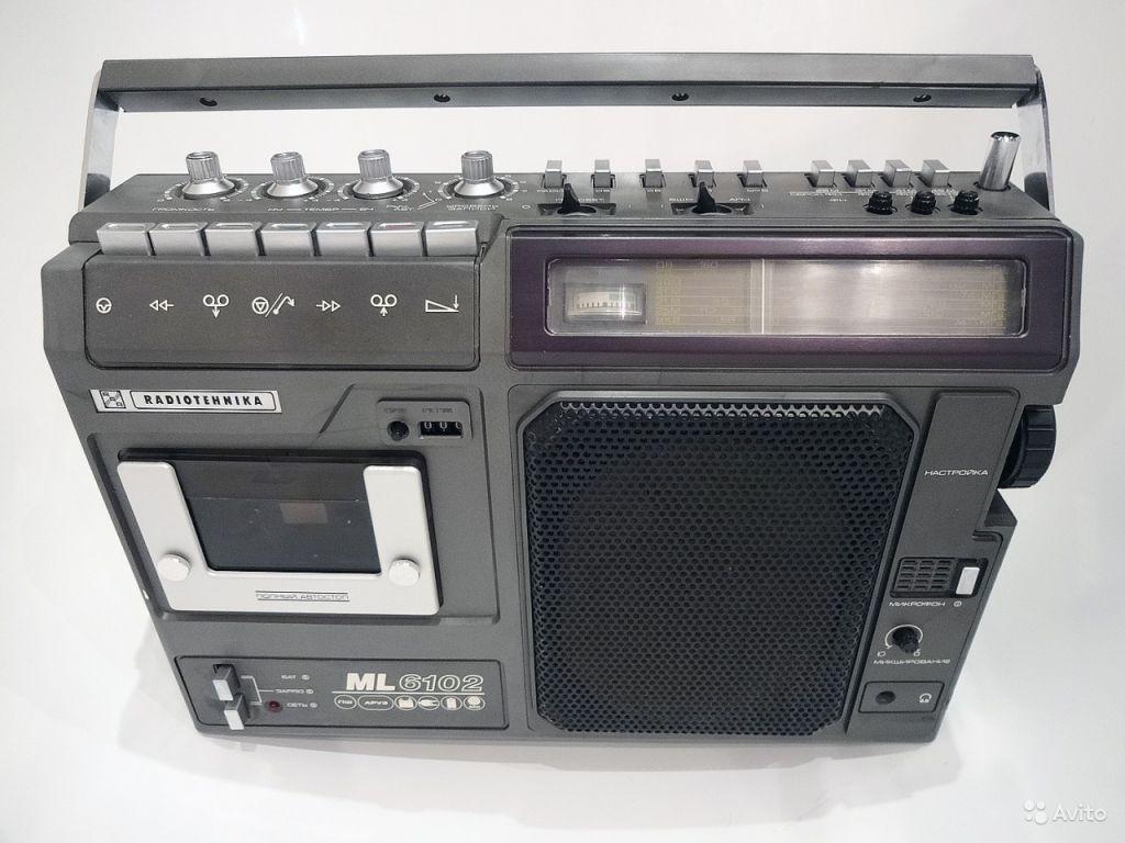 Кассетная магнитола Radiotehnika мl 6102 - 1984г в Москве. Фото 1