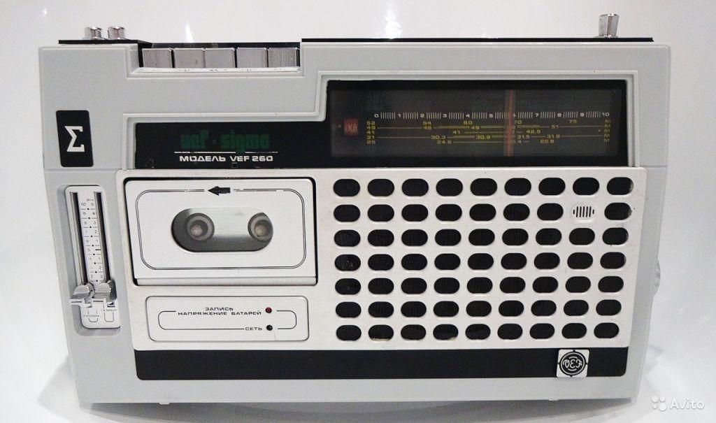 Переносная транзисторная магнитола VEF-260 - 1985г в Москве. Фото 1