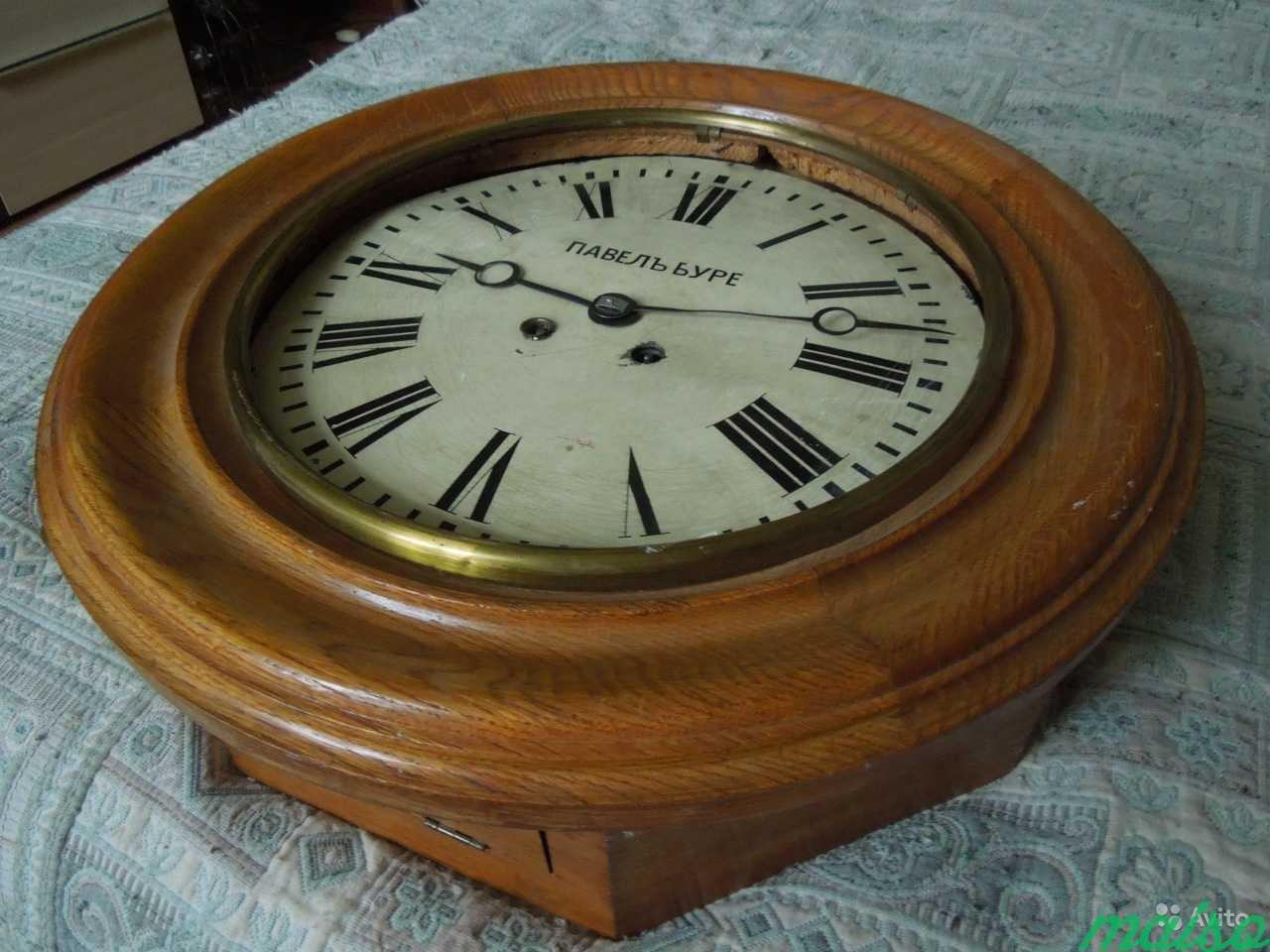 Часы П.Буре шайба зальные d 50 см 19 век в Москве. Фото 2
