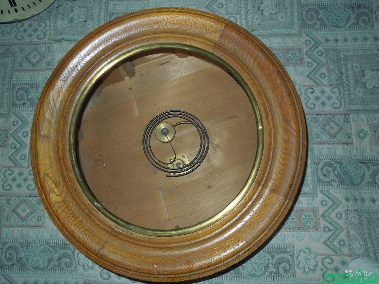 Часы П.Буре шайба зальные d 50 см 19 век в Москве. Фото 7