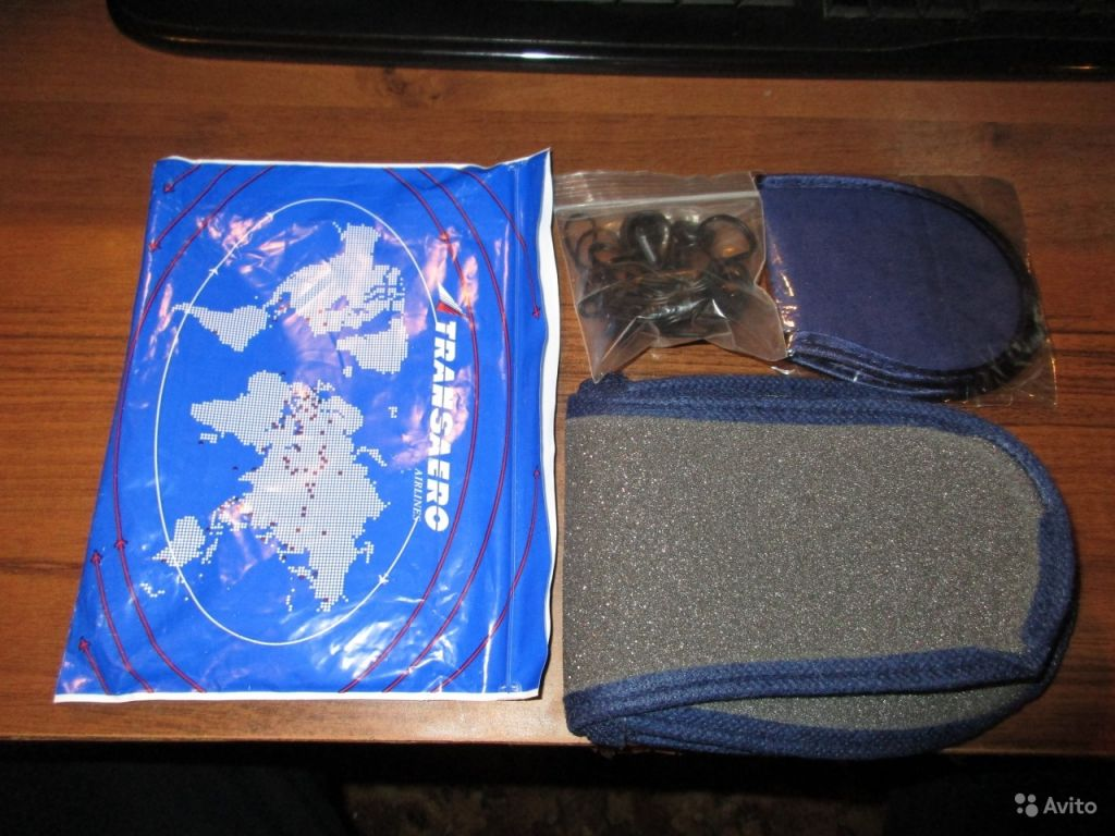 Наушники и набор для сна Transaero в Москве. Фото 1