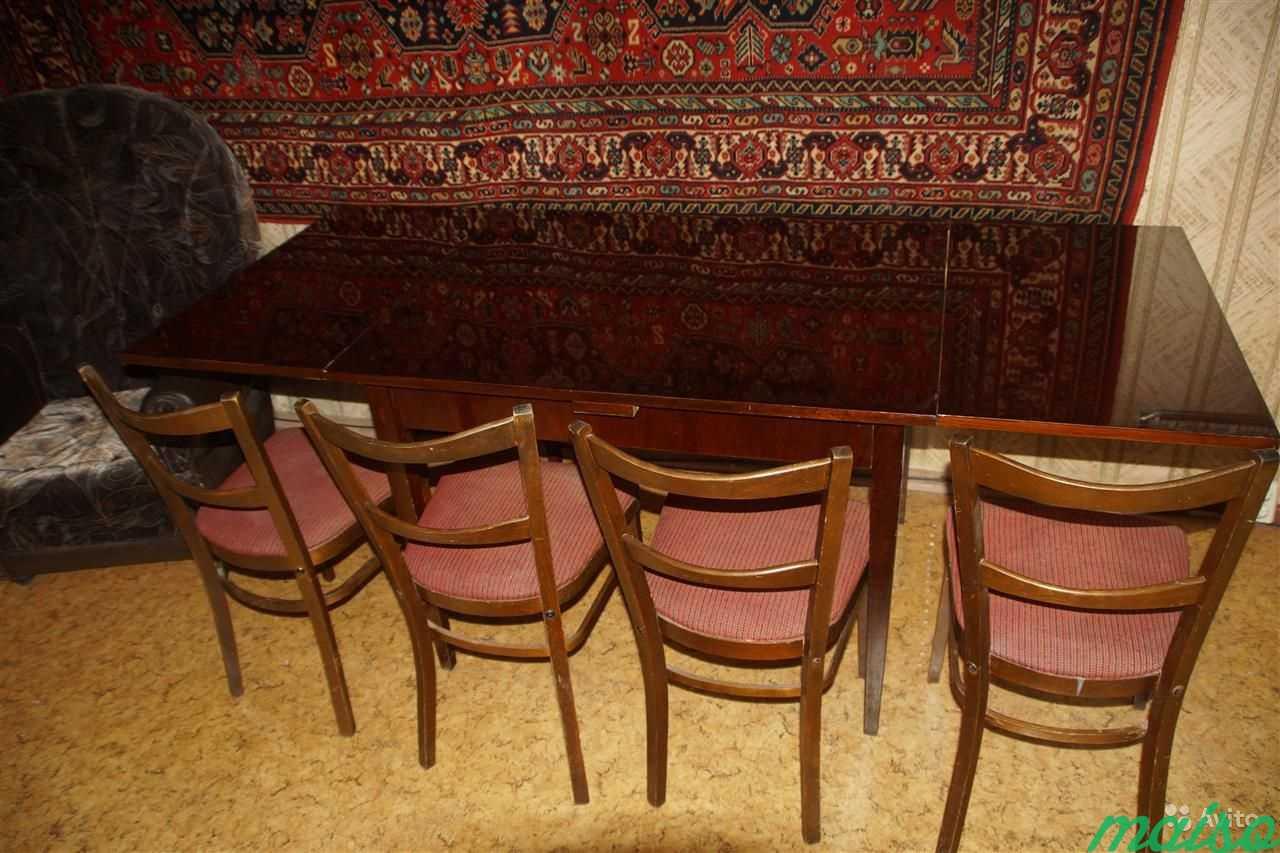 Стол обеденный раскладной, натуральное дерево, ccc в Москве. Фото 3