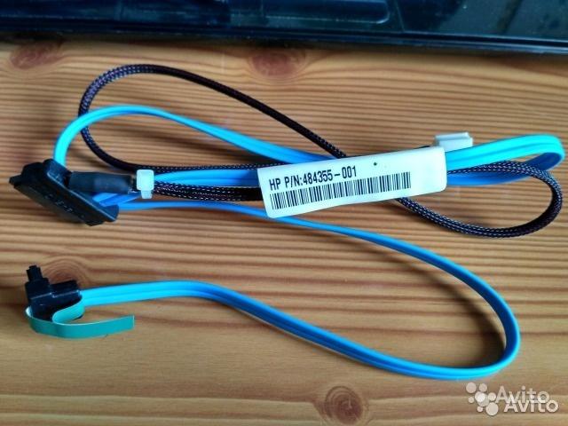 Кабеля SATA 484355 для серверов HP (комплект из 3) в Москве. Фото 1
