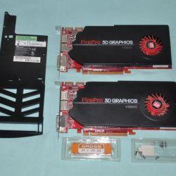 Две профессиональные видеокарты AMD FirePro V5800