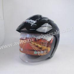 Шлем открытый со стеклом Safebet HF 255 Black