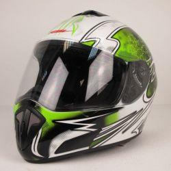 Шлем RSV Racer Dust бело-зеленый
