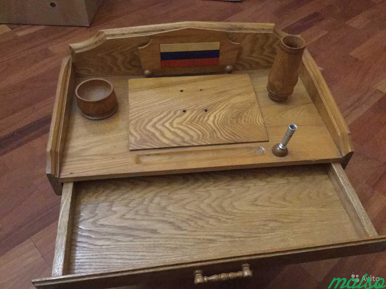 Настольный набор руководителю с выдвижным ящиком в Москве. Фото 3