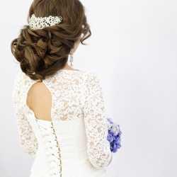 Свадебные вечерние причёски, плетение кос, макияж
