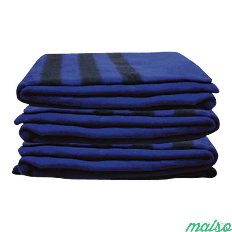 Одеяло ведомственное тёмно-синего цвета ар 2871 см в Москве. Фото 1