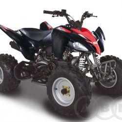 Квадроцикл авм Scorpion 150 см3, чёрный-красный
